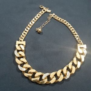 Kate Spade goldtone Cuban Boxcar link necklace